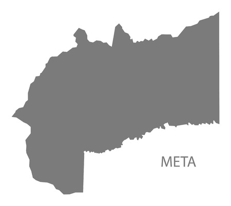 meta: Meta Colombia Map in grey Illustration