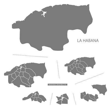 la: La Habana Cuba Map grey