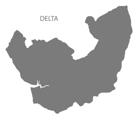 delta: Delta Nigeria Map grey