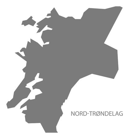 norway: Nord-Trondelag Norway Map grey