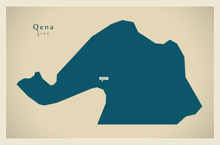 modernity: Modern Map - Qena Egypt Illustration