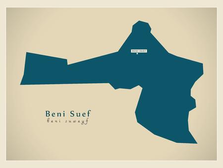 Modern Map - Beni Suef Egypt