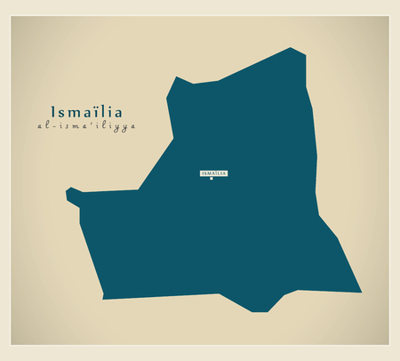 modernity: Modern Map - Ismailia Egypt Illustration
