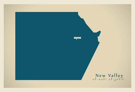valley: Modern Map - New Valley Egypt