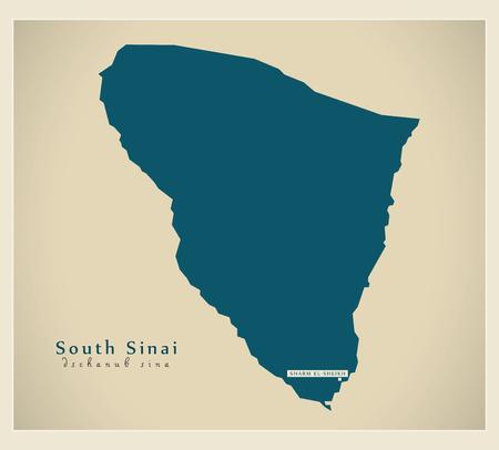 modernity: Modern Map - South Sinai Egypt Illustration