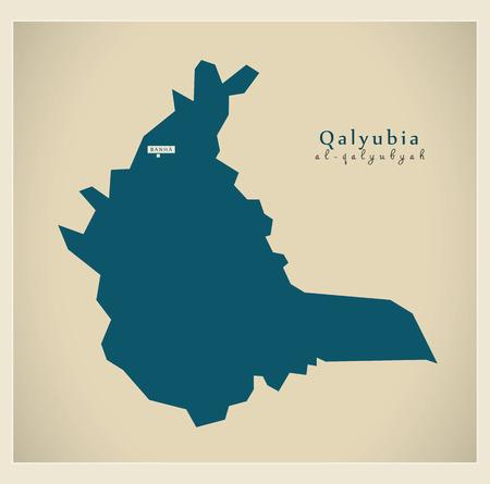 modernity: Modern Map - Qalyubia Egypt