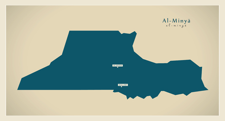 modernity: Modern Map - Al Minya Egypt