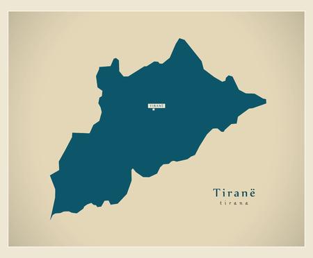 modernity: Modern Map - Tirana AL