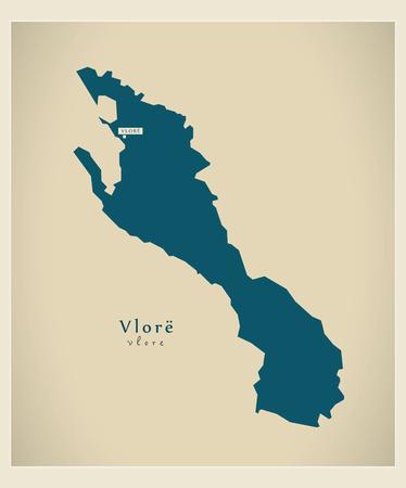modernity: Modern Map - Vlore AL
