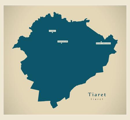 regional: Modern Map - Tiaret DZ