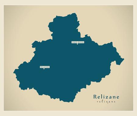 regional: Modern Map - Relizane DZ