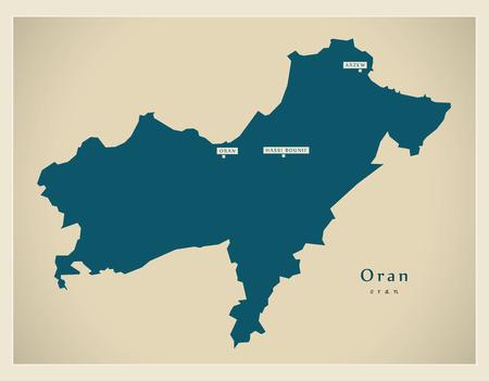 Modern Map - Oran DZ