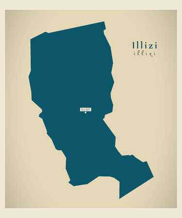 regional: Modern Map - Illizi DZ