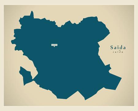 regional: Modern Map - Saida DZ