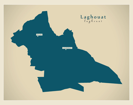 regional: Modern Map - Laghouat DZ Illustration