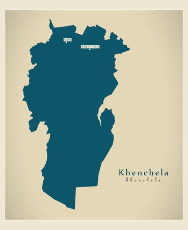 regional: Modern Map - Khenchela DZ