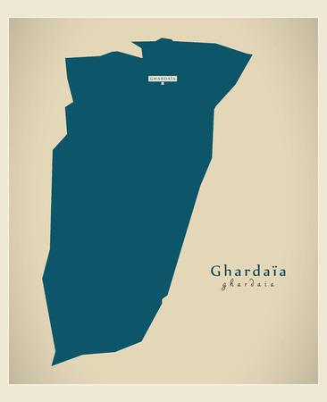 regional: Modern Map - Ghardaia DZ Illustration