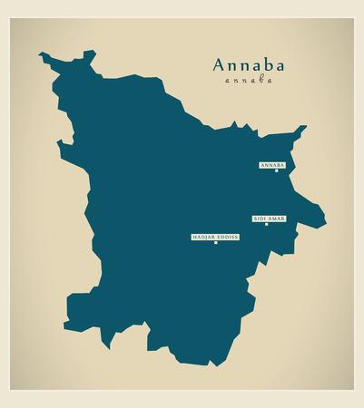 regional: Modern Map - Annaba DZ