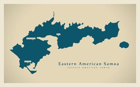 Modern Map - Eastern American Samoa AS