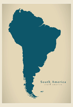 mainland: Modern Map - South America Map complete Illustration