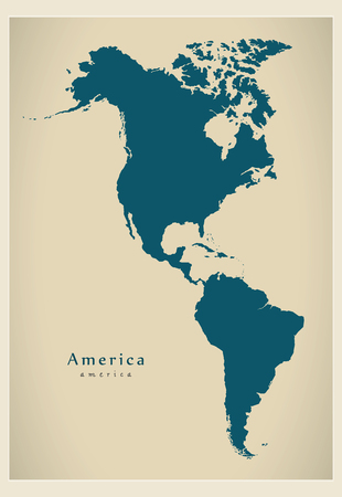 complete: Modern Map - America complete map