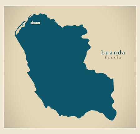 regional: Modern Map - Luanda AO