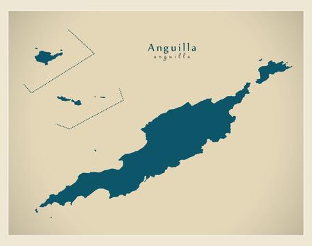 anguilla: Modern Map - Anguilla AI