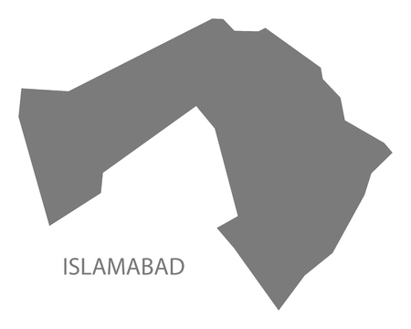islamabad: Islamabad Pakistan Map grey