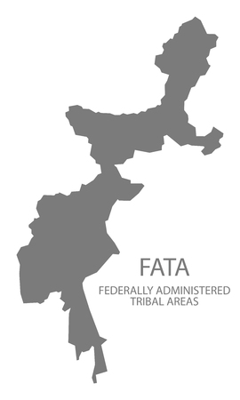 federally: FATA Federally administrated tribal areas Pakistan Map grey