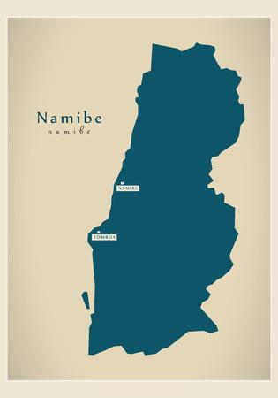 regional: Modern Map - Namibe AO