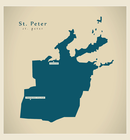 ag: Modern Map - St. Peter AG Illustration