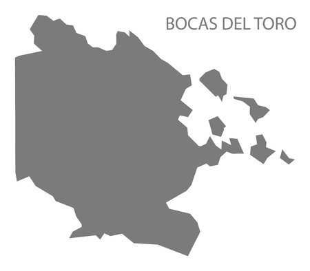 Bocas del toro Panama Map grey