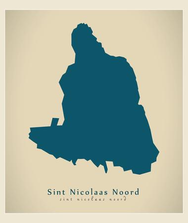 nicolaas: Modern Map - Sint Nicolaas Noord AW