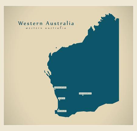 Modern Map - Western Australia AU
