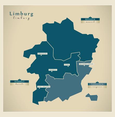 limburg: Modern Map - Limburg BE