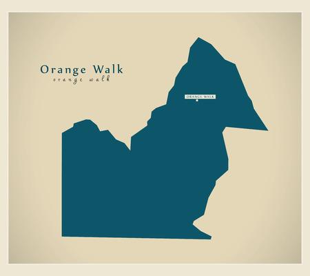 Modern Map - Orange Walk BZ