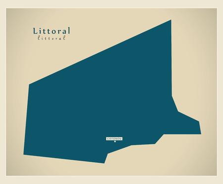 Modern Map - Littoral BJ Illustration