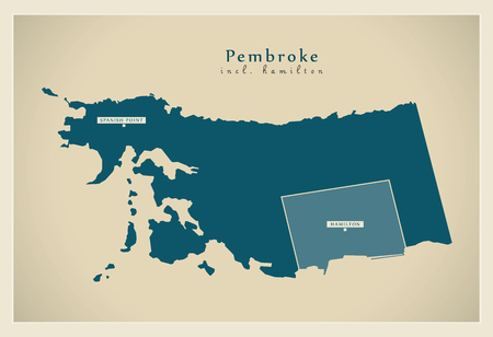 Modern Map - Pembroke incl. Hamilton BM