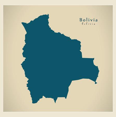 mapa de bolivia: Mapa moderna - Bolivia BO
