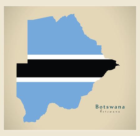 bw: Modern Map - Botswana BW