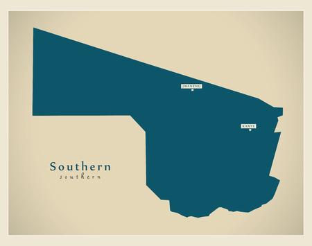 bw: Modern Map - Southern BW