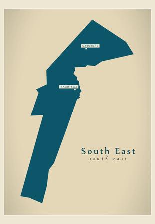 bw: Modern Map - South East BW