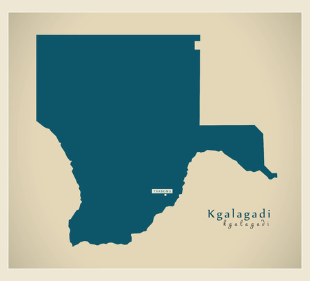 bw: Modern Map - Kgalagadi BW Illustration