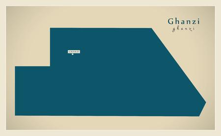 bw: Modern Map - Ghanzi BW
