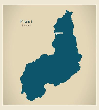 brasilia: Modern Map - Piaui BR
