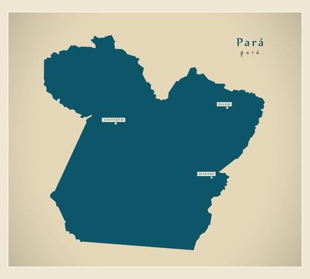 para: Modern Map - Para BR