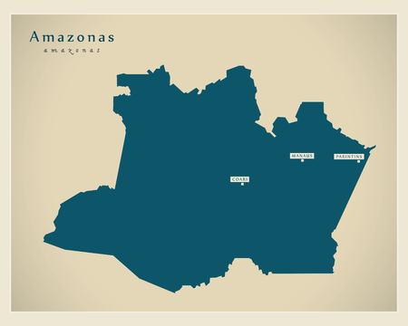 Modern Map - Amazonas BR