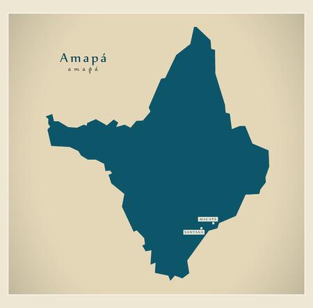 Modern Map - Amapa BR