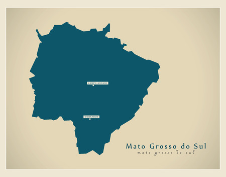 br: Modern Map - Mato Grosso do Sul BR