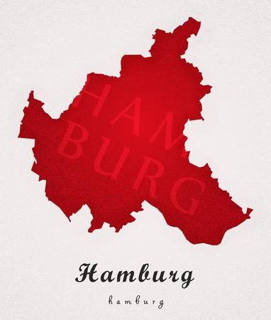 counties: Hamburg Germany DE Art Map
